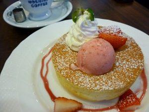 苺のスフレパンケーキ