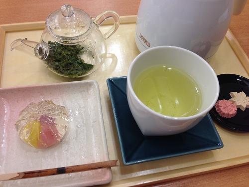 煎茶と生菓子@名古屋かネット